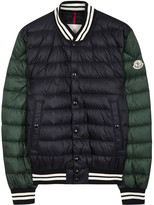 Moncler Enrick Navy Quilted Shell Bomber Jacket