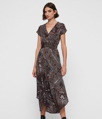 AllSaints Leila Scarf Dress