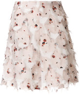 See by Chloe feather detail A-line skirt