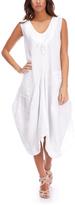 White Francesca Linen Sleeveless Dress