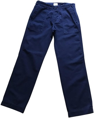 Bellerose Navy Cotton Trousers for Women