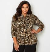 Avenue Leopard Roll Tab Pullover