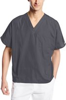 Cherokee Workwear Scrubs Unisex V-Neck Tunic Top, Grey