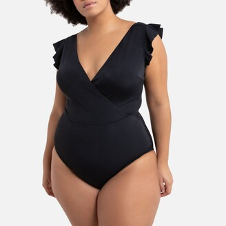 La Redoute Collections Plus Ruffled Swimsuit