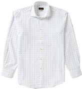 Thomas Dean Gingham Square Long-Sleeve Woven Shirt
