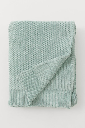 H&M Chenille Throw - Green