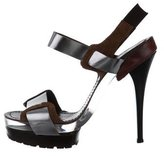 Marni Leather & Lucite Platform Sandals