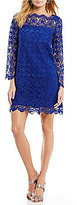 Adrianna Papell Lace Empire Waist Fit & Flare Dress