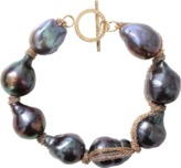 JORDAN ALEXANDER Navy Baroque Pearl Bracelet