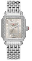 Michele Deco Madison Stainless Steel Cashmere Diamond Bracelet Watch