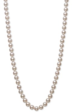 "Belle de Mer Cultured Akoya Pearl (7-7-1/2mm) 18"" Strand Necklace in 14k Gold, Created for Macy's"