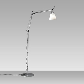 Artemide Tolomeo 1-Light Tall Swing Arm Floor Lamp Shade Color: Parchment