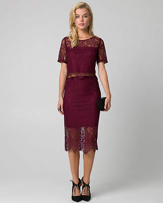 Le Château Lace Two-Piece Cocktail Dress