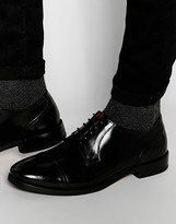 Base London Oscar Hi Shine Leather Derby Shoes