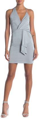 OOBERSWANK Asymmetrical Crisscross Strap Mini Dress