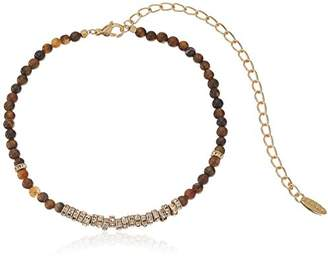 Ettika Crystal Overload in Tiger'S Eye and Gold Choker Necklace