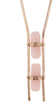 House Of Harlow Double Rose Quartz Necklace