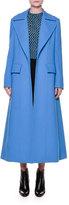 Marni Portrait-Collar A-Line Coat, Azure