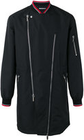 Christian Dior asymmetric zip jacket - men - Cotton - 50
