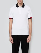 Fred Perry Tipped Cuff Pique Shirt White