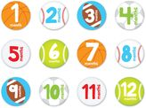 """Pearhead """"Baby's First Year"""" Sports Stickers (Set of 12)"""