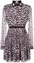Giamba pleated longsleeved dress