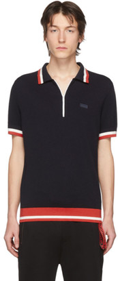 HUGO BOSS Navy Knit Polo