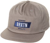 Brixton Sutter Snapback Cap Grey