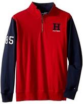 Tommy Hilfiger Matt 1/2 Zip Pullover Sueded Jersey Sweater (Big Kids)