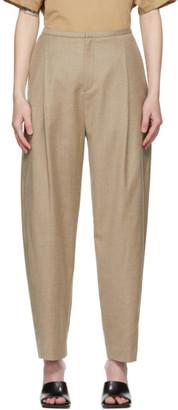 Totême Beige Wool Flannel Trousers