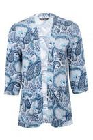 Select Fashion Fashion Womens Blue Paisley Soft Jacket - size 6