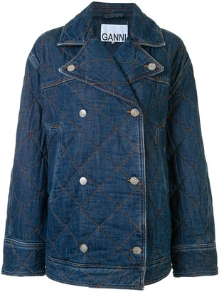 Ganni Quilted Double-Breasted Jacket
