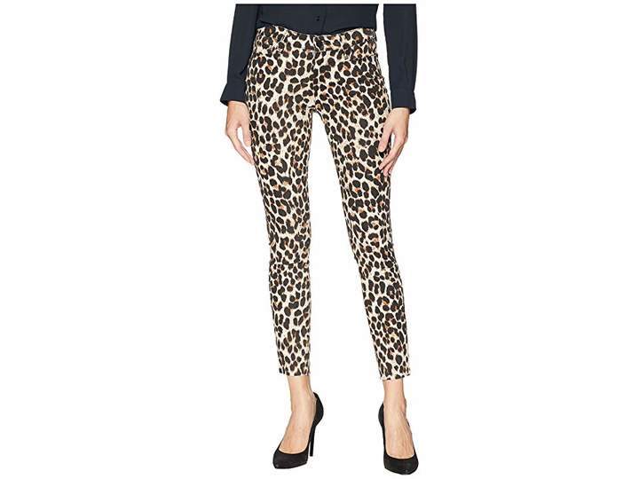 Paige Verdugo Ankle with Raw Hem in Sahara Leopard Women's Jeans
