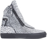 Ylati Nr102 Giove Goat Snake Leather High Sneakers