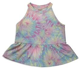 Aqua Girls' Tie Dyed Peplum Tank Top, Big Kid - 100% Exclusive