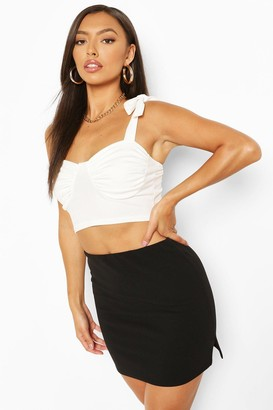 boohoo Petite Side Split Mini Skirt