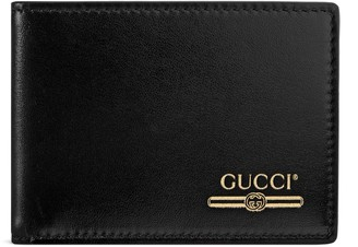 Gucci Leather mini wallet with logo