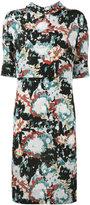 Marni printed tie neck dress - women - Silk - 42