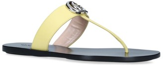 Gucci Leather Marmont Thong Sandals