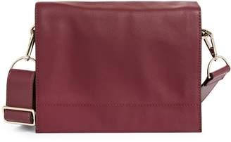 Sfw Leather Flap Crossbody Bag