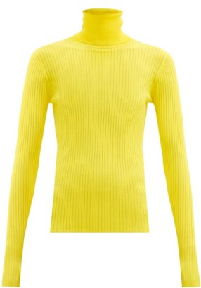 Dodo Bar Or Stacy Roll-neck Ribbed Sweater - Yellow