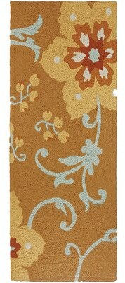 "Winston Porter Ivy Hill Winterthur Hand-Hooked Gold Area Rug Rug Size: Rectangle 2'10"" x 4'6"""