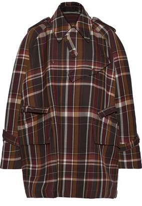 Acne Studios Oversized Checked Wool And Silk-blend Jacket