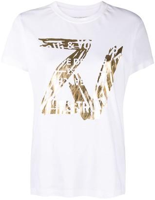 Zadig & Voltaire metallic logo T-shirt
