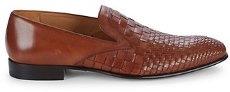 Mezlan Sirocco Woven Leather Loafers