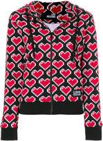 Love Moschino heart print hoodie