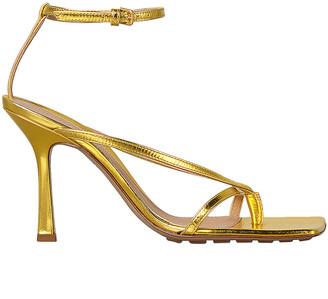 Bottega Veneta Ankle Strap Heels in Gold | FWRD