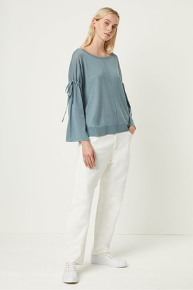 French Connection Spring Light Knitted Tie Sleeve Jumper