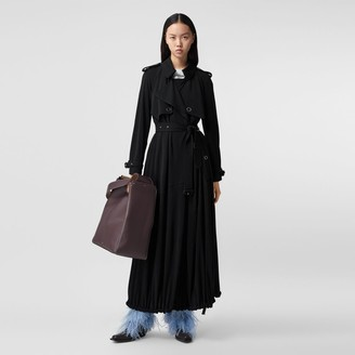 Burberry Press-stud Detail Jersey Trench Coat