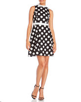 Yumi Polka Dot Linen-Blend Dress